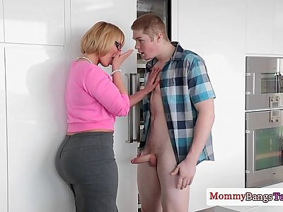 Mature Melanie Monroe helping teens fuck
