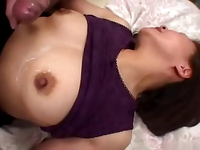 Naughty boy peeping at a mature woman's masturbation