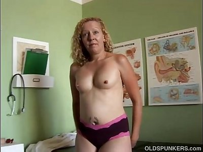 Mature amateur in a doctors office
