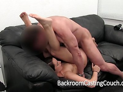 Girl Next Door Gets Ambush Creampie on Casting Couch
