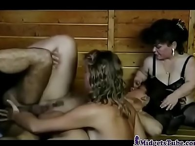 Crazy Midgets Orgy In The Sauna