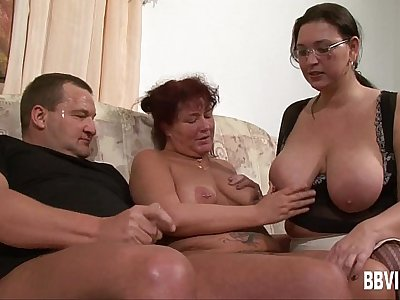 Fat german milfs sharing cock