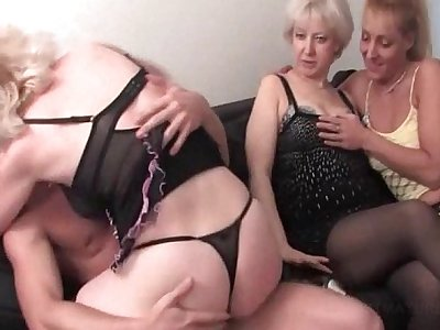 Teen stripper fucking mature cunts in orgy
